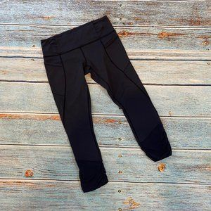 Lululemon Navy Ruched Crop Tights 8
